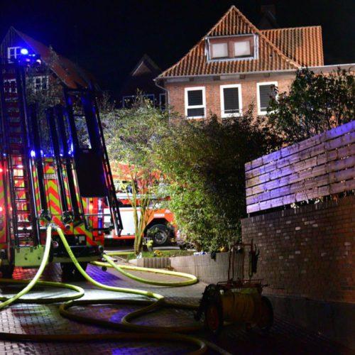Großfeuer in der Stader Altstadt