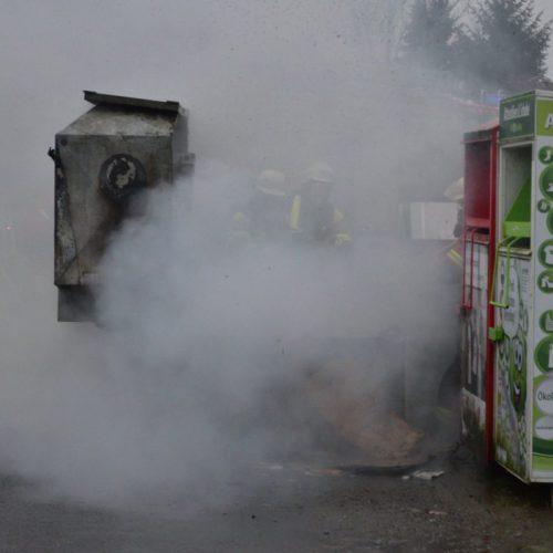 Müllcontainer-Brand in der Lindenstraße