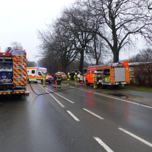 Verkehrsunfall auf der Bundesstraße 74