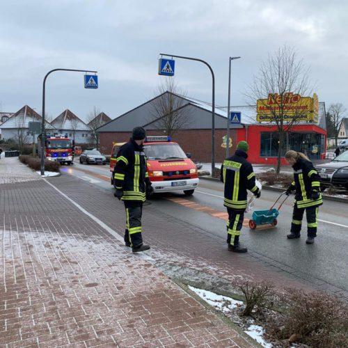 Ölspur auf der Bundesstraße 74