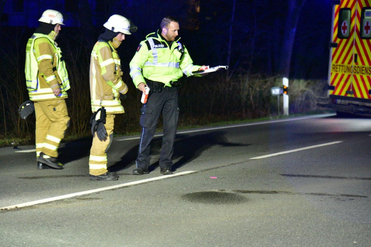 Verkehrsunfall auf der Bundesstraße 73 am 5. Februar 2020