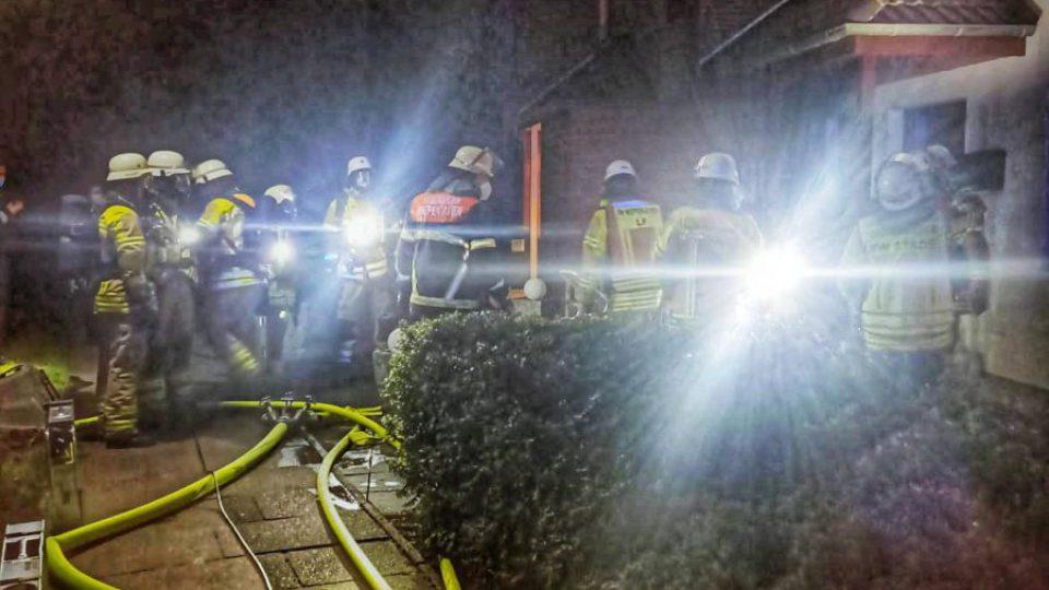 Feuer in Reihenhaus am 1. April 2021